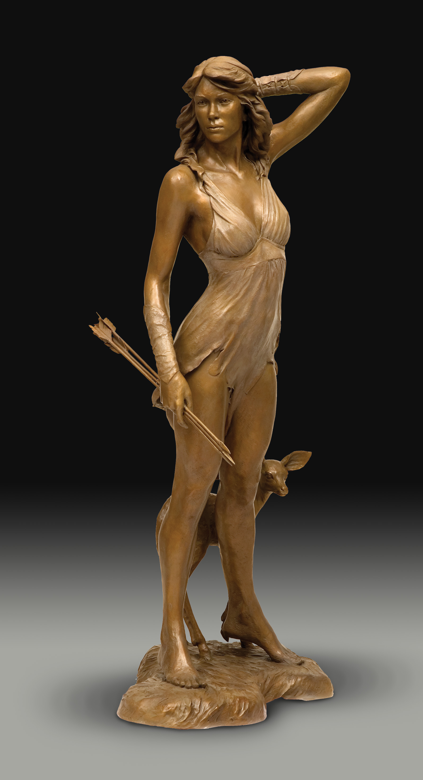 Figurative Bronze Sculpture by Victor Issa